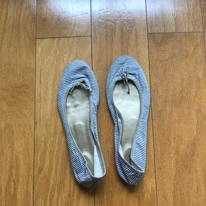 J.Crew Striped Seersucker Ballet Flats 8.5